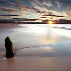 Sunset over Lossiemouth Beach by Andrew Watson