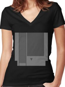 The Cartridge  Women's Fitted V-Neck T-Shirt