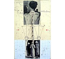 RETRATO DE 4 DESCONOCIDOS DANDO LA ESPALDA (portrait of 4 unknown group of persons with backs turned) Photographic Print