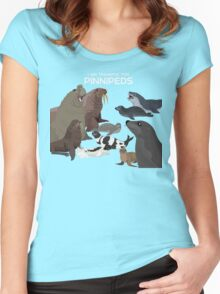 I Am Thankful For Pinnipeds Women's Fitted Scoop T-Shirt