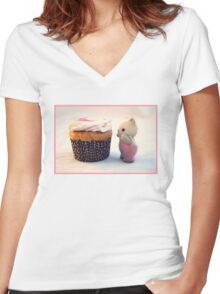 Now That's a Cupcake Women's Fitted V-Neck T-Shirt