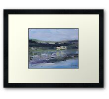 Cut Banks Stuart River Plein Air July 2013 Framed Print