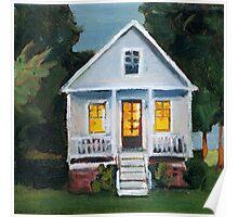 Cottage at Dusk Poster