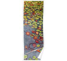 Lily pads on One Mile Lake, watercolor on paper mounted on board Poster