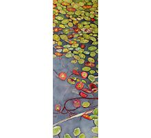 Lily pads on One Mile Lake, watercolor on paper mounted on board Photographic Print