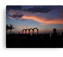 tropical sunset - puesta del sol tropical Canvas Print