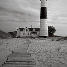 Path to Big Sable Lighthouse by Roger  Swieringa