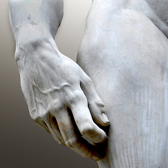 DAVID'S HAND MICHELANGELO DI LODOVICO BUONARROTI SIMONI by Thomas Barker-Detwiler
