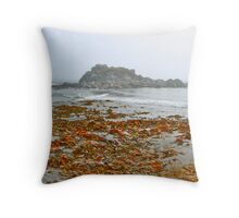 The Hawk Beach Throw Pillow