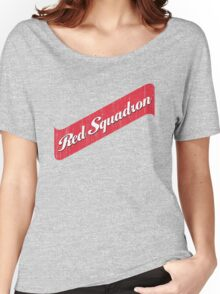 Red Squadron Beer  Women's Relaxed Fit T-Shirt