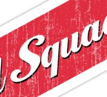 Red Squadron Beer  Sticker