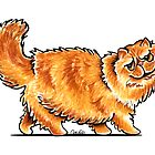 Orange Tabby Persian by offleashart