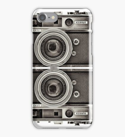 Double YASHICA_B&W iPhone Case/Skin