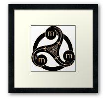 Merlin-symbol Framed Print