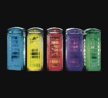 Real Photo of Beautifull Old Battered British Phone Boxes with added colour Kids Clothes