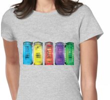 Real Photo of Beautifull Old Battered British Phone Boxes with added colour Womens Fitted T-Shirt