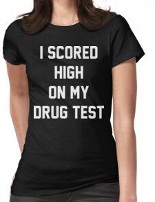 Funny Marijuana Drugs Womens Fitted T-Shirt