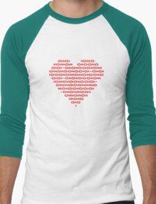 Binary Love Men's Baseball ¾ T-Shirt