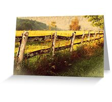 Old Fence rustic decor photography home decor Greeting Card