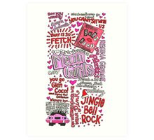 Mean Girls Collage Art Print