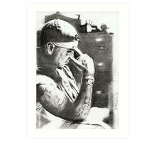 rap_06- drawing Art Print
