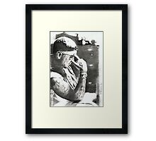 rap_06- drawing Framed Print