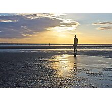 Sunset over Crosby beach Photographic Print