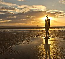 Crosby Beach Sunbeams by Paul Madden