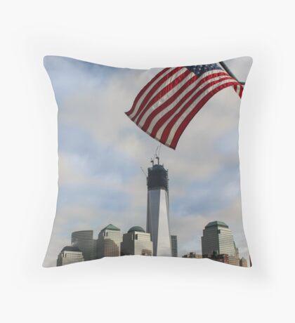 One World Trade Center, Manhattan, New York Throw Pillow