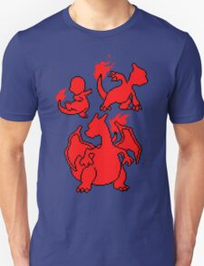 Fire Kanto Starters Silohouette T-Shirt