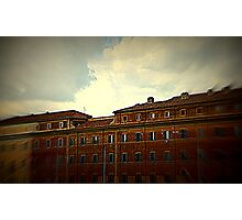 BUILDINGS ON THE BANKS OF Tiber in Rome Photographic Print