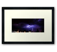 Lightning Strike! Framed Print