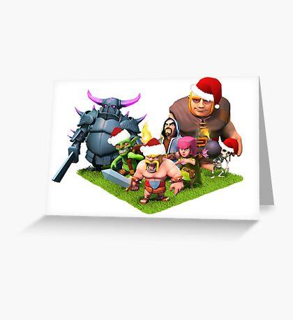 Christmas clash Greeting Card