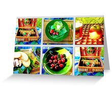 Picnic under a chestnut tree Greeting Card