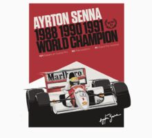 Ayrton Senna F1 World Champion by Flyinglap
