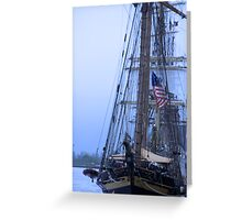 Tall Ship Mass  Greeting Card