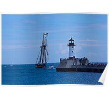 Light House Tall Ship 2 Poster