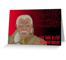 The Good, The Bad and The Boss - A Metal Gear Movie (Ocelot) Greeting Card