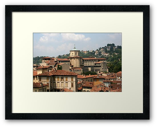 Rooftops of Bergamo by Segalili