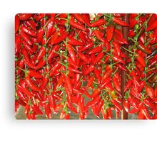 PEPPER MARKET Canvas Print