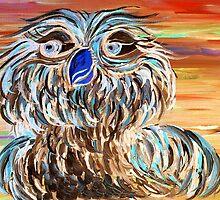 Blue Owl by EloiseArt