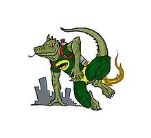 Jet Pack Lizard Photographic Print