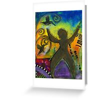 She Rejoices Singing Sweet Songs of Triumph Greeting Card