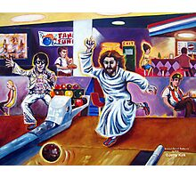 'ELVIS & JESUS BOWLING' Photographic Print