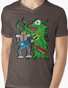 Robot Monster Power Jam Mens V-Neck T-Shirt