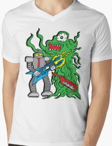 Robot Monster Power Jam Mens V-Neck T-Shirt