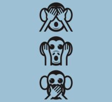 3 Wise Monkeys Emoji by tinybiscuits