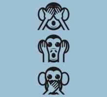 3 Wise Monkeys Emoji by tinybiscuits