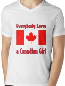 Everybody Loves a Canadian Girl Mens V-Neck T-Shirt