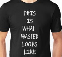 Funny Marijuana Wasted Unisex T-Shirt